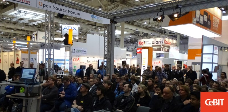 Publikum CeBIT - Open Source Forum 2016